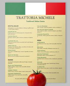 Viva Italia!  #loveyourmenu #italianfood #italy #vivaitalia #menu #menudesign #restaurant