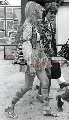 Check out Pattie's gladiator (called Roman back then) sandals - 1968
