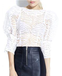 White Stripes Top
