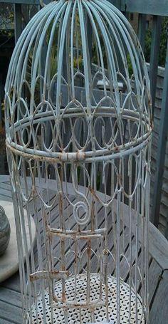 Vintage bird cage...Oh So Cute.