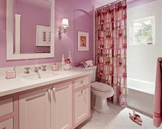 Dusty Rose Bathroom Home Design Photos