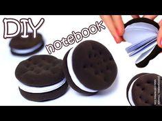 How To Make Oreo Notebook - DIY Chocolate Sandwich Cookies Notebook Tutorial - YouTube
