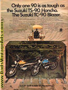 1971 Suzuki TC-90 Blazer and TS-90 Honcho Ad
