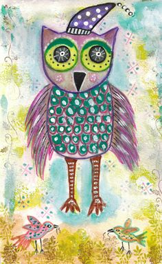 Artwork by Melu deRose - Mr. Owl