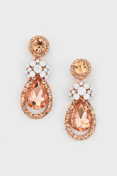 Elizabeth Earrings in Rose Champagne