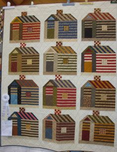 "2012-SV-log+cabin+1.jpg (1224×1600). Margaret Okuyley, Maumee, Ohio.  Electric Quilt Company.  ""Log Cabin Syrup"" 59"" X 71"".  Posted on Fabric Therapy.blogspot.com"