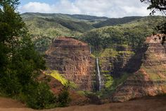 "Hawaii: Waimea Canyon State Park Waimea Canyon State Park on the island of Kauai is known as ""The Grand Canyon of the Pacific."" Stretching 14 miles across the western end of the island, it is one mile wide and more than 3,600 feet deep"