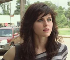 The best thing about Texas Chainsaw Massacre 3D - Alexandra Daddario #hotbrunette #blueeyes #alexandradaddario