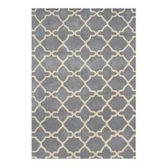 Alliyah Handmade Bluish-Grey New Zealand Blend Wool Rug (8 x 10)