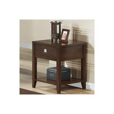Successfully pull together all the elements of your living area with this Calla End Table! This is a basic but stylish contemporary end table with one drawer and a bottom shelf. Pulling inspiration from the straight line-based forms of squares and rectangles, a modern look is achieved to simplify your space.
