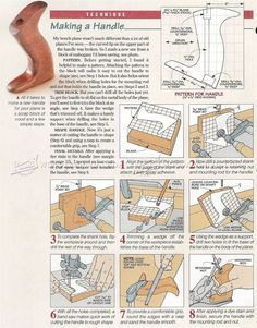 Making Hand Plane Handles - Hand Tools Tips and Techniques | WoodArchivist.com
