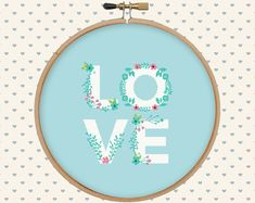 Love cross stitch pattern pdf instant download by GentleFeather