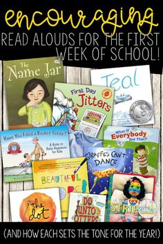 Set the tone for the entire year with positive, encouraging read aloud that teach students about diversity, community, kindness, and collaboration. Read more to find out why each of these books are valuable to share during the first week of school! #BackToSchool #GoodReads