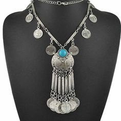 Bohemian Dangling Coin Gypsy Necklace