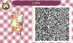 ACNL QR Code: Floral Fabric