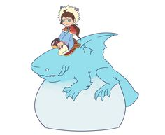 """I'm looking forward to playing Monster Hunter stories! I want to ride a Zamtrios. My dream is to ride into battle on the back of a majestic shark. (I guess this is more of a """"bouncy"""" shark than a..."""