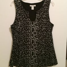 Gorgeous animal print top Silver is slightly shimmery White House Black Market Tops