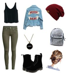 """""""Badass"""" by deliaaaaaa ❤ liked on Polyvore featuring H&M, MANGO and Dr. Martens"""