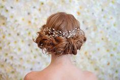 Iris by Happily Ever Headwear Silver Headband, Beads And Wire, Crystal Rhinestone, Iris, Tulle, Fancy, Bridal, Elegant, Spring