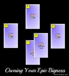 A Tarot spread that will help you clear any blocks to owning your truly EPIC Bigness!