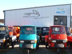 Viele neue Ape 50 bei Casa Moto in Bergatreure. Alle Farben lagernd. #Piaggio #Ape #Piaggioape #Casa #Moto #Casamoto Piaggio Ape, Commercial Vehicle, Vespa, Trucks, Backdrops, Photo Illustration, Wasp, Vespas, Truck