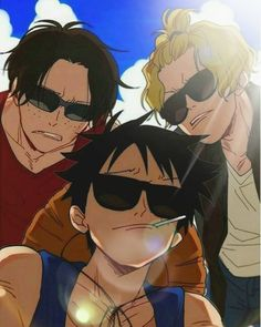 The coolest brothers in the world luffy, sabo and ace – One Piece One Piece Comic, One Piece Manga, One Piece Drawing, One Piece Funny, One Piece Fanart, Manga Anime, Me Anime, Anime Guys, One Piece Crew