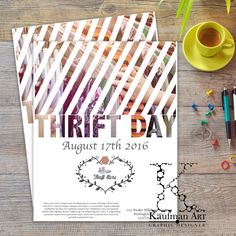 National Thrift Store Day Flyer  Information  Sales  by KaufmanArt