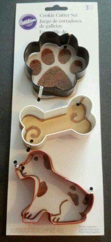 NEW Wilton Dog Bone & Paw Print Cookie Cutter Set | eBay