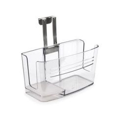 hangs on the inside of a counter door… for organizing stuff in the bathroom. brilliant! $20
