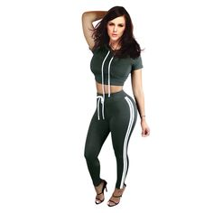 c6a61a3ff64a Dirror New New Style Women Bodycon Cotton Jumpsuit Summer Long Solid Hooded  Short Sleeve Two Piece Rompers Sexy Jumpsuits Black S