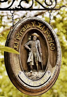 I'd love to have something like this when we do our pirate bar Storefront Signage, Shop Signage, Signage Design, Metal Signs, Wooden Signs, Pirate Decor, Coffee Room, Sign Board Design, Pub Signs