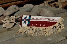 Native American Blackfoot Indian Beaded Knife Sheath