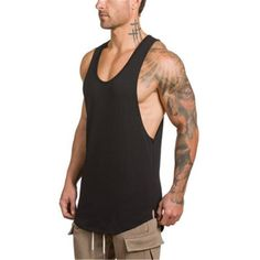bd39f5260e38 Summer Cotton Tank Tops. Gym Tank TopsMuscle Tank TopsWorkout Tank TopsCotton  VestFitness MenSummer ...