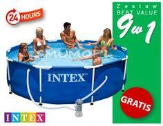 Zestaw Best Value   Basen ogrodowy Intex stelażowy 305x76   9 w 1   28202