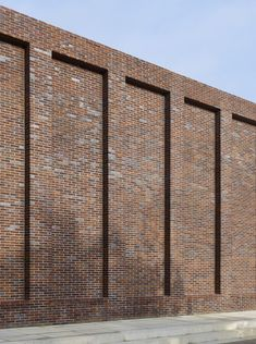 Max Dudler & Dietrich Architekten - Sports complex at Jacob's university, Bremen Brick Architecture, Education Architecture, Architecture Details, Brick Fence, Brick Facade, Front Wall Design, Compound Wall Design, Brick Projects, Brick Detail