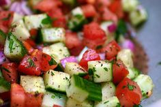 """Israeli Salad (recipe) - """"buy some sumac powder. Not only is it the ..."""