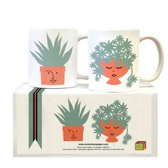Happy Succulents Mug Set