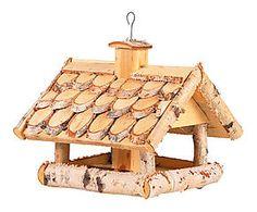 Mangeoire à oiseau bois de bouleau, naturel - L38