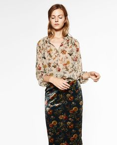 PRINTED BLOUSE-View all-TOPS-WOMAN | ZARA United States