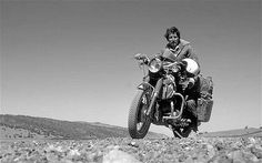 In late sponsored by 'Sunday Times', Ted Simon began travelling around the world on a 500 cc Triumph Tiger 100 motorcycle. For four years he travelled over miles km) through 45 countries. Antique Motorcycles, Triumph Motorcycles, Touring Motorcycles, Custom Motorcycles, Motorcycle Travel, Motorcycle Touring, Motorcycle Adventure, Girl Motorcycle, Motorcycle Quotes