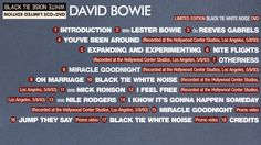 The video documentary from the CD+DVD edition of David Bowie's 'Black Tie White Noise' album. Black Tie White Noise, Brixton, Twiggy, David Bowie, Documentary, The Documentary, Documentaries