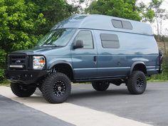 4x4 van,4wd van,4 wheel drive van, 4x4 camper van, lifted van,4x4 econoline