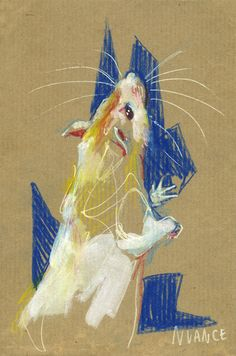 Praline on kraft by nuances-curieuses on DeviantArt Moth Drawing, Pet Rats, Animal Sketches, Pastel Art, Canvas Prints, Art Prints, Paint Markers, Pet Portraits, Doodle Art