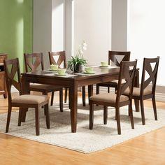 Alpine Furniture Albany 7 Piece Dining Set & Reviews | Wayfair