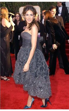 SJP at the Golden Globes 2004 in Chanel Couture