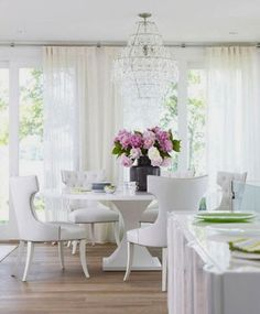 all white chic dining | greige design