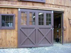 Ideas For Sliding Barn Door Garage Style Barn Door Garage, Exterior Sliding Barn Doors, Barn Door Locks, Barn Door Track, Garage Door Design, Double Barn Doors, Diy Barn Door, Sliding Barn Door Hardware, Sliding Doors