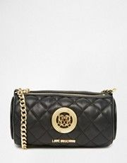Love Moschino Quilted Barrel Across Body Bag