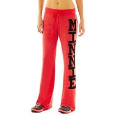 Minnie Mouse sweatpants. #MinnieStyle     (Click on the color red to see the Minnie style)