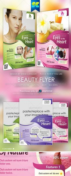 Modern Beauty Flyer / Magazine Ads  #GraphicRiver          >>Modern Beauty…